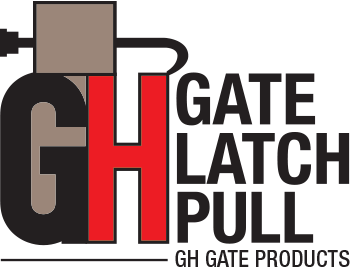 GH Gate Products Gate Latch Pull Logo